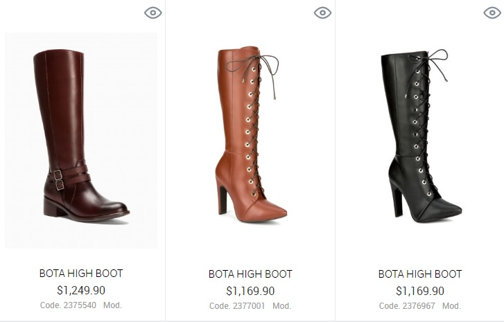 Botas de caña alta High Boot 2016
